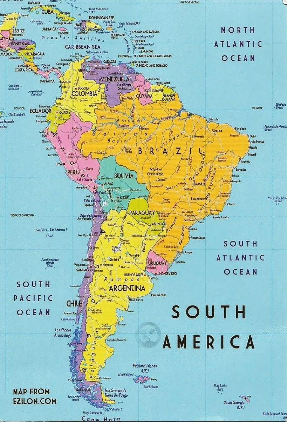 Guyana Del Amerika Terkep Terkep Guyana Del Amerika Del Amerika