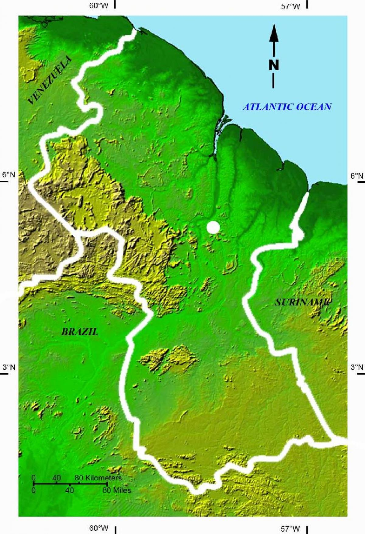 Muholdas Terkep A Guyana Terkep Muholdas Terkep Guyana Del